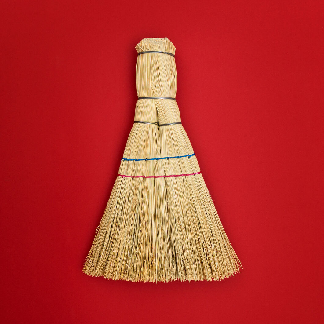 Barca Handmade Straw Whisk Broom in color