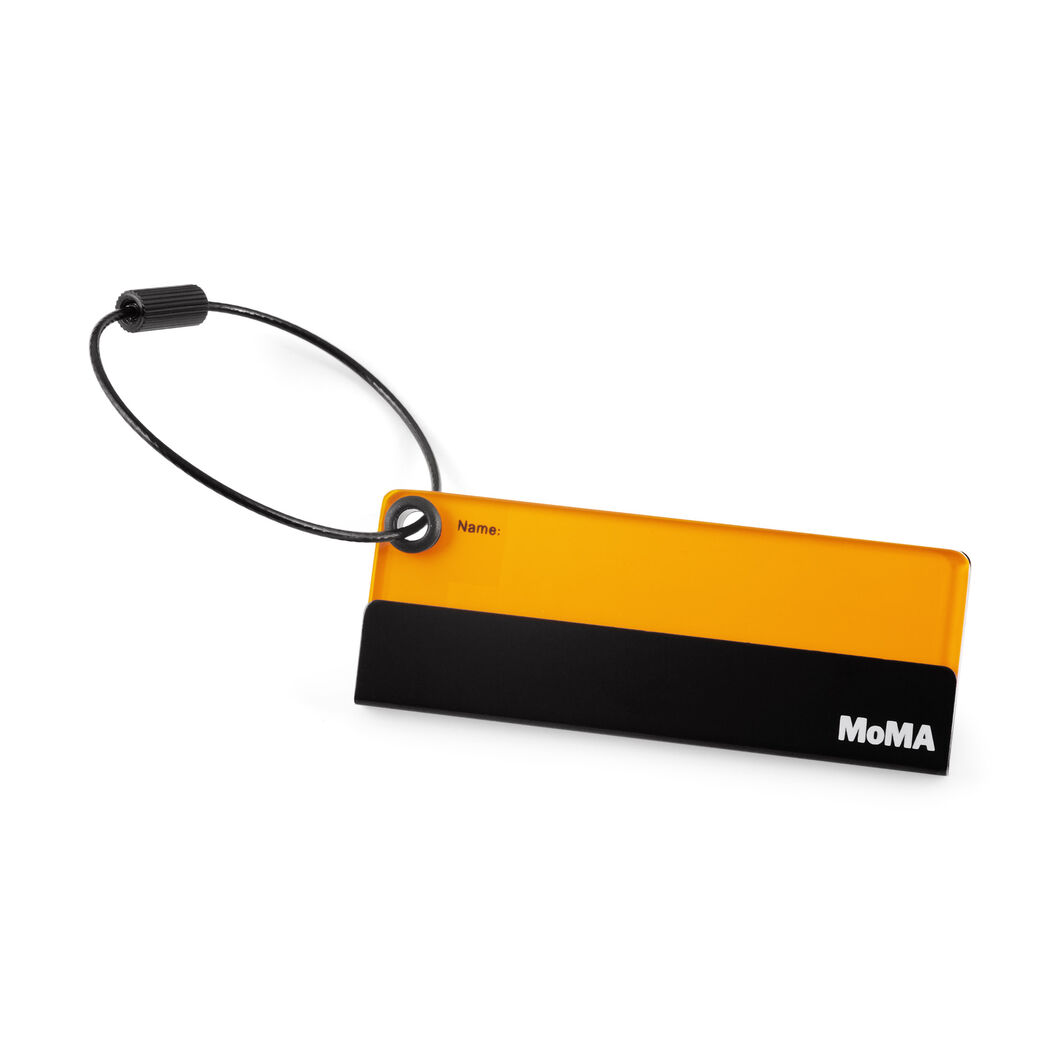 Green MoMA Acrylic Luggage Tag in color Black/Green