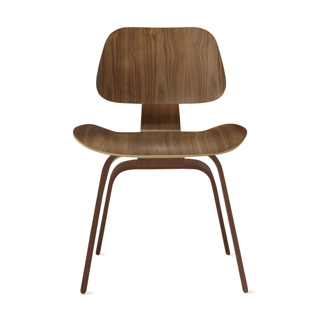 Eames® Molded Plywood Dining Chair (DCW) in color Walnut