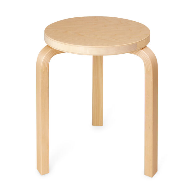Three-Legged Stacking Stool in color Birch