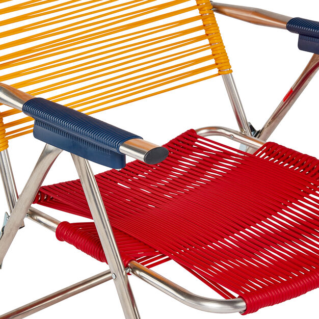 Spaghetti Beach Chair in color Yellow/ Red/ Blue