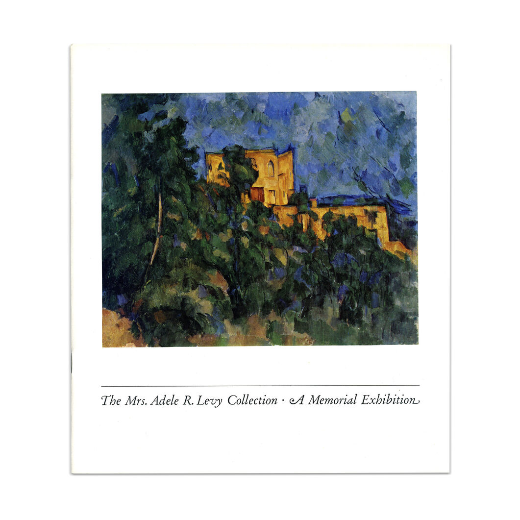 The Mrs. Adele R. Levy Collection: A Memorial Exhibition - Paperback in color