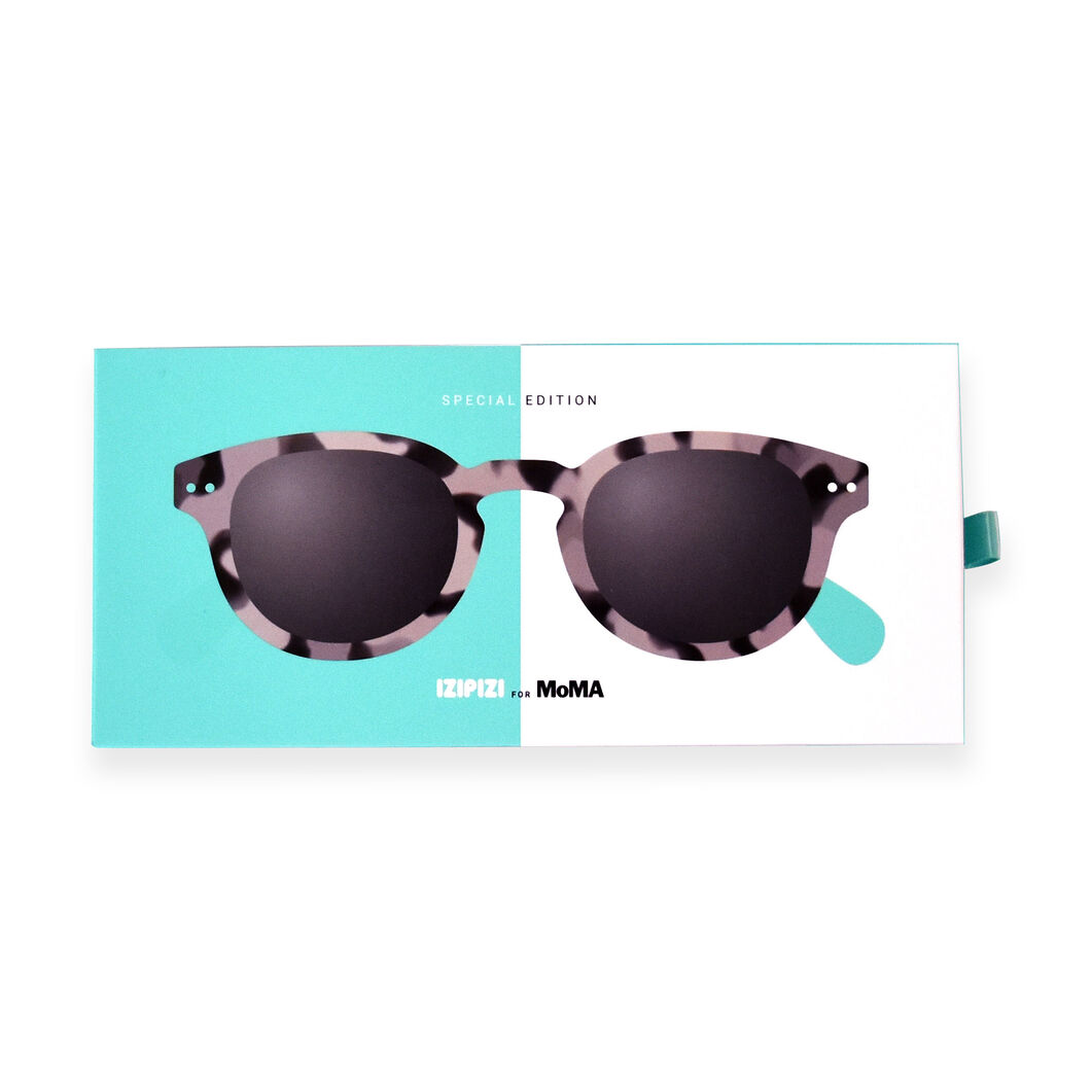 MoMA Edition IZIPIZI Sunglasses #C in color Grey Marble/ Mint