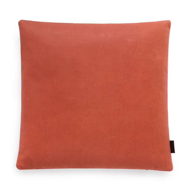 Maharam Loam Leather Pillow in color Terracotta