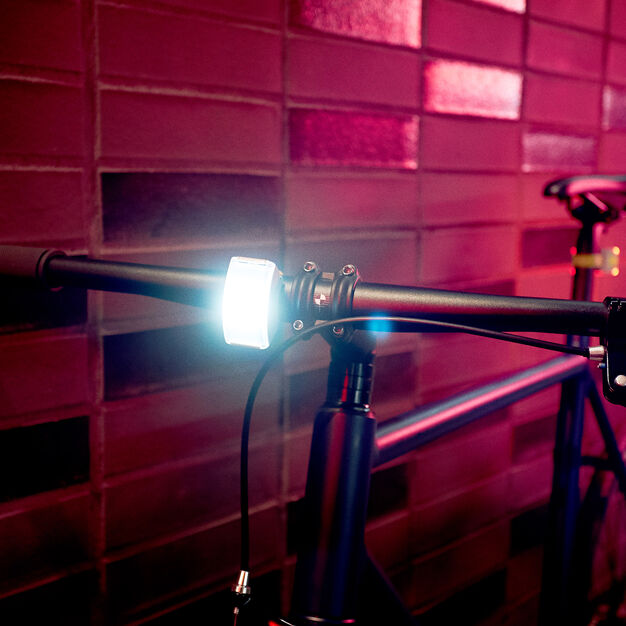 Bookman Curve Rechargeable LED Front Bike Light in color Orange