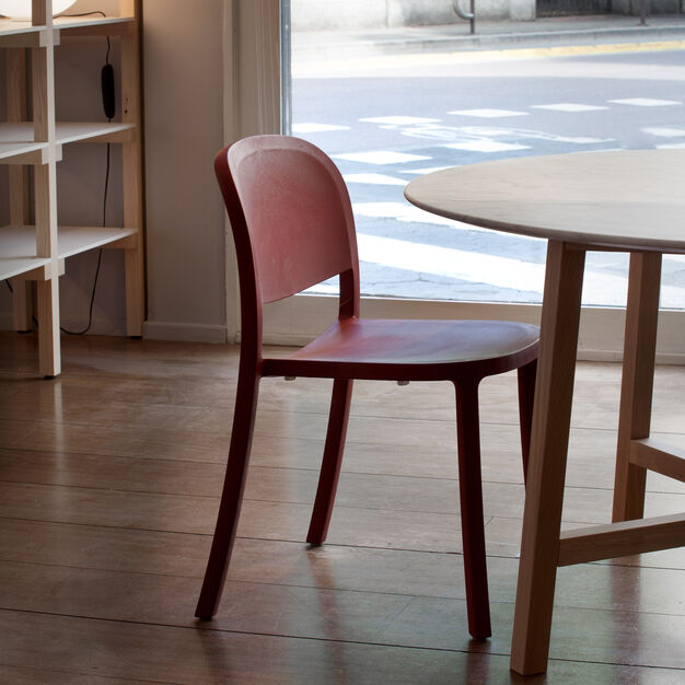 Emeco 1 Inch Reclaimed Stacking Chair in color Bordeaux