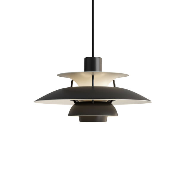 PH 5 Hanging Lamp in color Black Monochrome