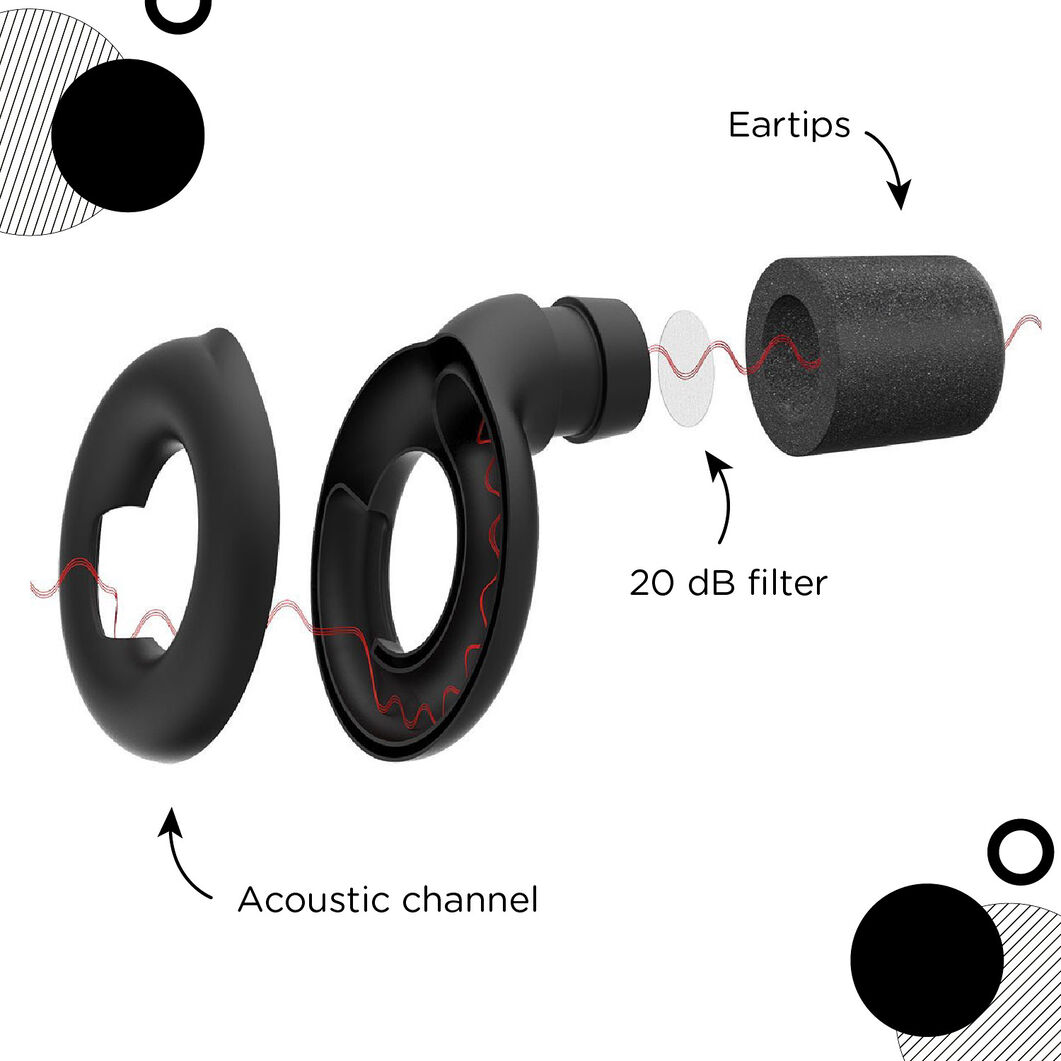 Loop Earplugs in color Black