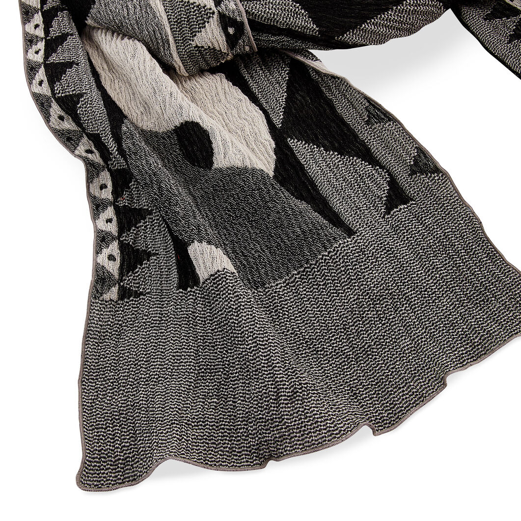 Rope Wool Scarf in color