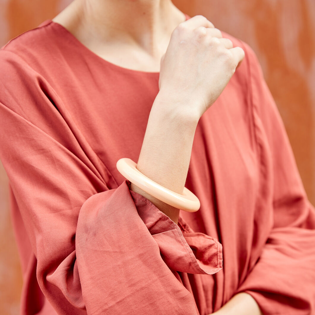 Uncommon Matters Urushi Wood Finial Bangle in color