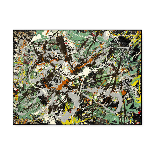 Pollock: Untitled (Green Silver) Framed Print in color