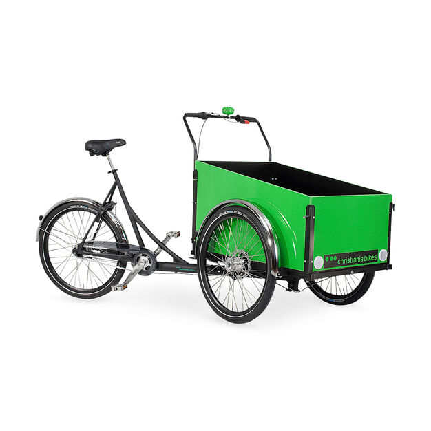 Christiania Cargo Bike - Green in color