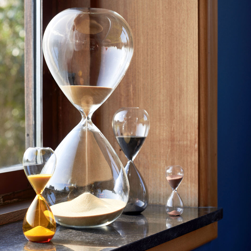 HAY Time Hourglass in color Silver