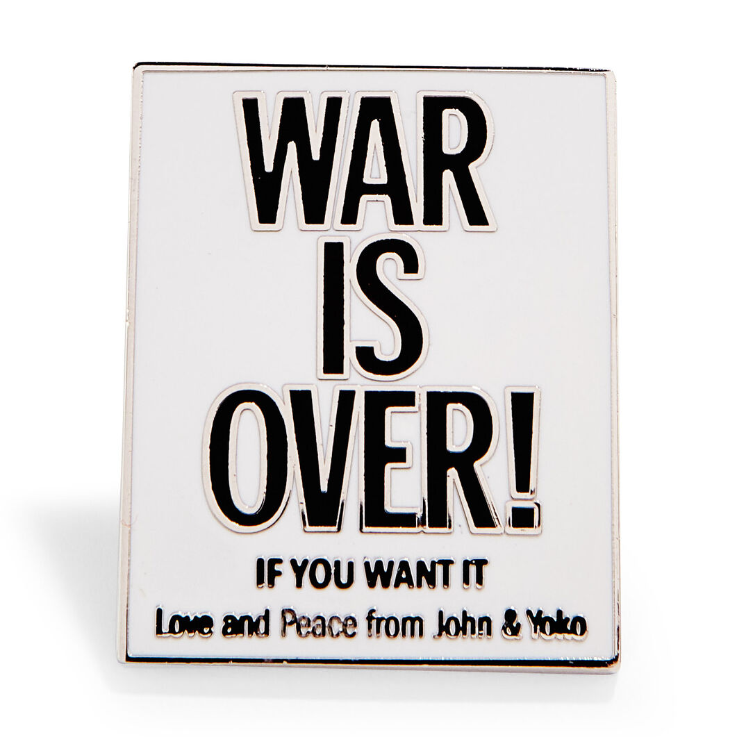 Yoko Ono and John Lennon: War is Over! Enamel Pin in color