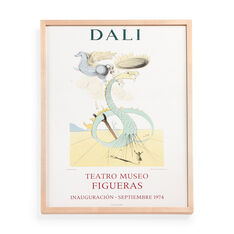 Salvador Dalí: Museum Opening (Dragon) Framed Poster in color