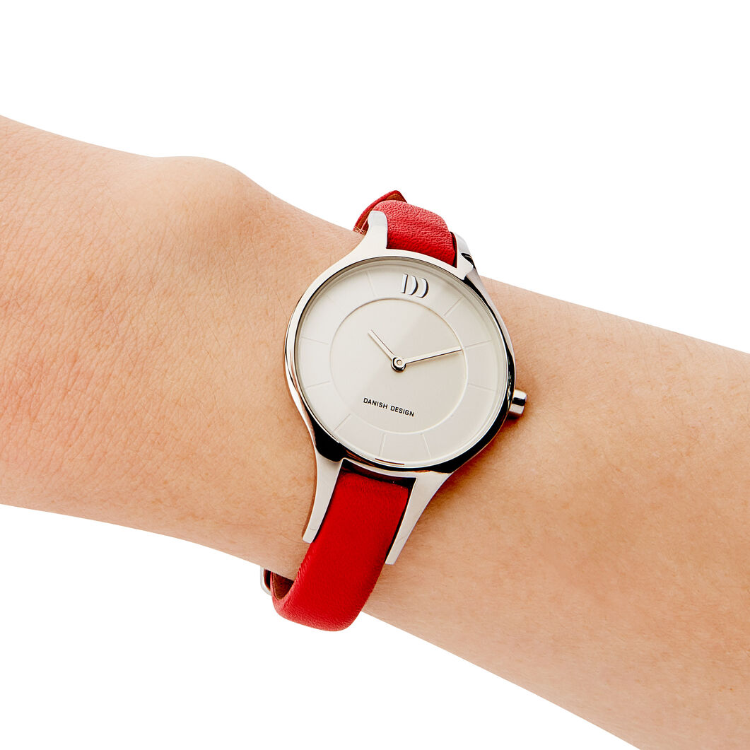 Slim Ladies Watch in color Red