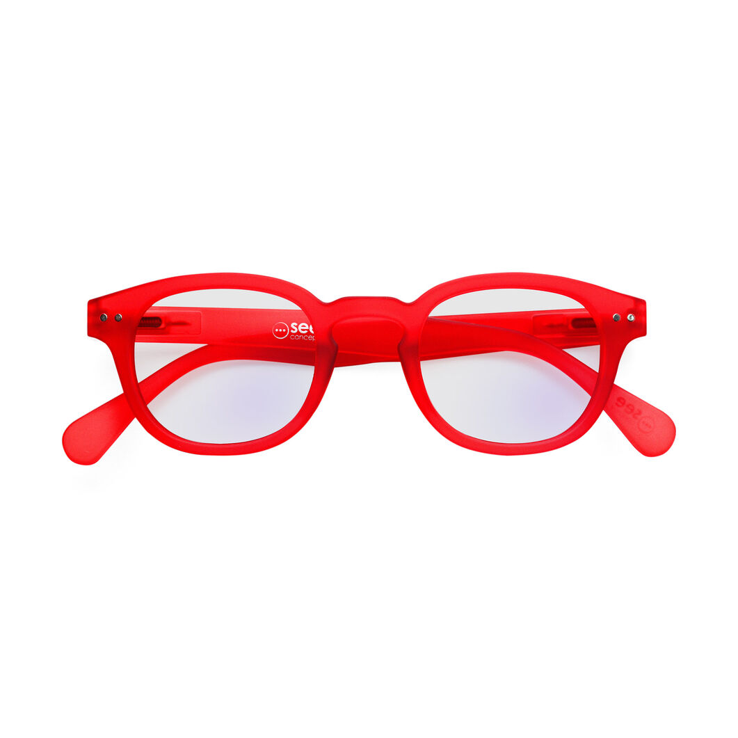 IZIPIZI Screen C Glasses - Red Crystal in color Red Crystal