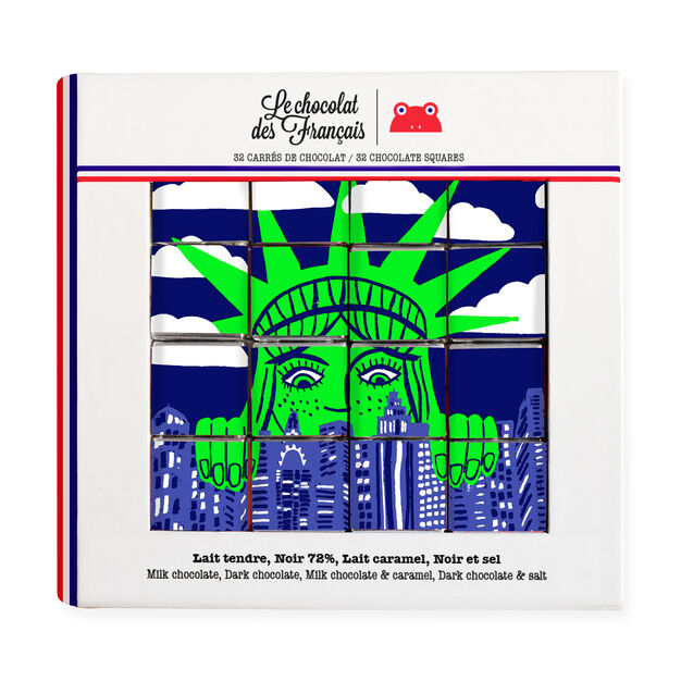Le chocolat des Français Chocolate Statue of Liberty 32-Piece Gift Box in color