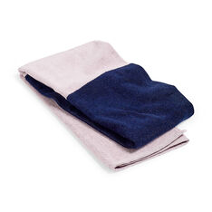 HAY Compose Colorblock Bath Towel  - Sky Blue in color Navy