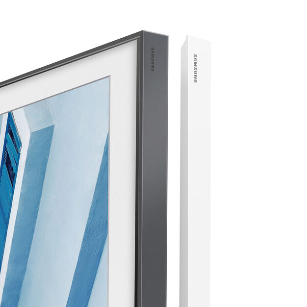 "Samsung The Frame TV - White Frame Edges 65"" in color"