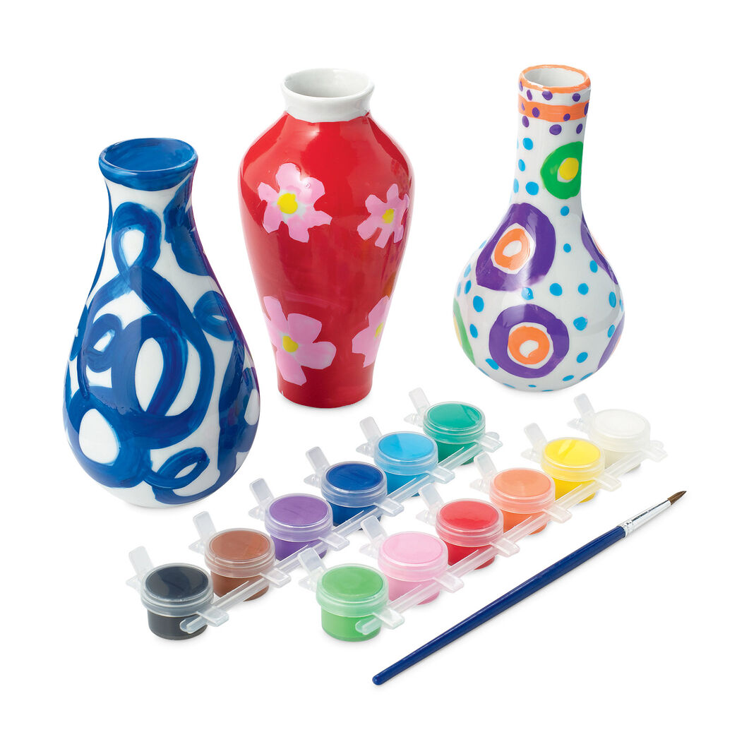 Paint Your Own Vases in color