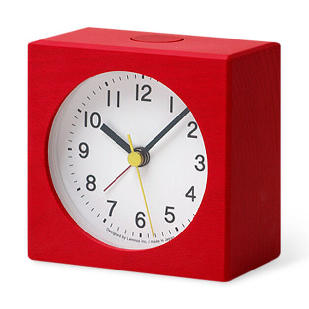 Ruotare Alarm Clocks Red in color