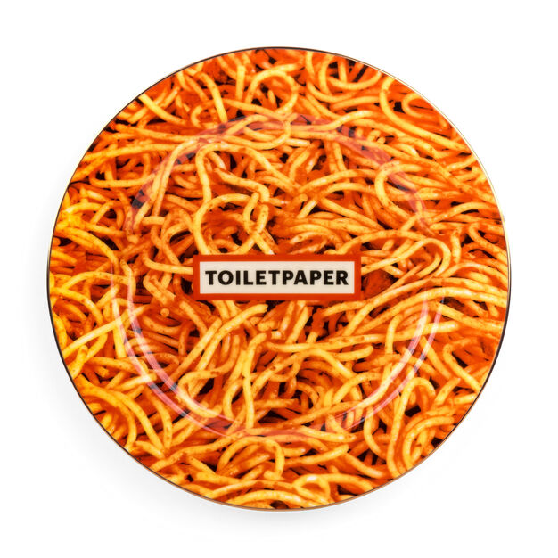 Seletti Wears Toiletpaper: Spaghetti Plate in color