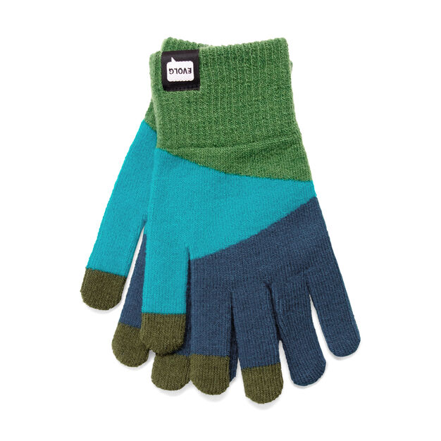 Touch Gloves Blue/Green in color Blue/Green