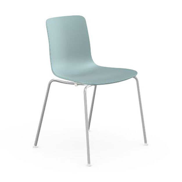 HAL Stackable Tube Chair in color Ice Gray