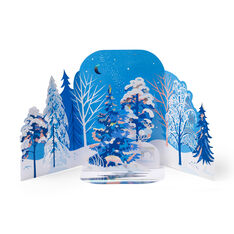 Wintry Forest Holiday Cards - Set of 8 in color