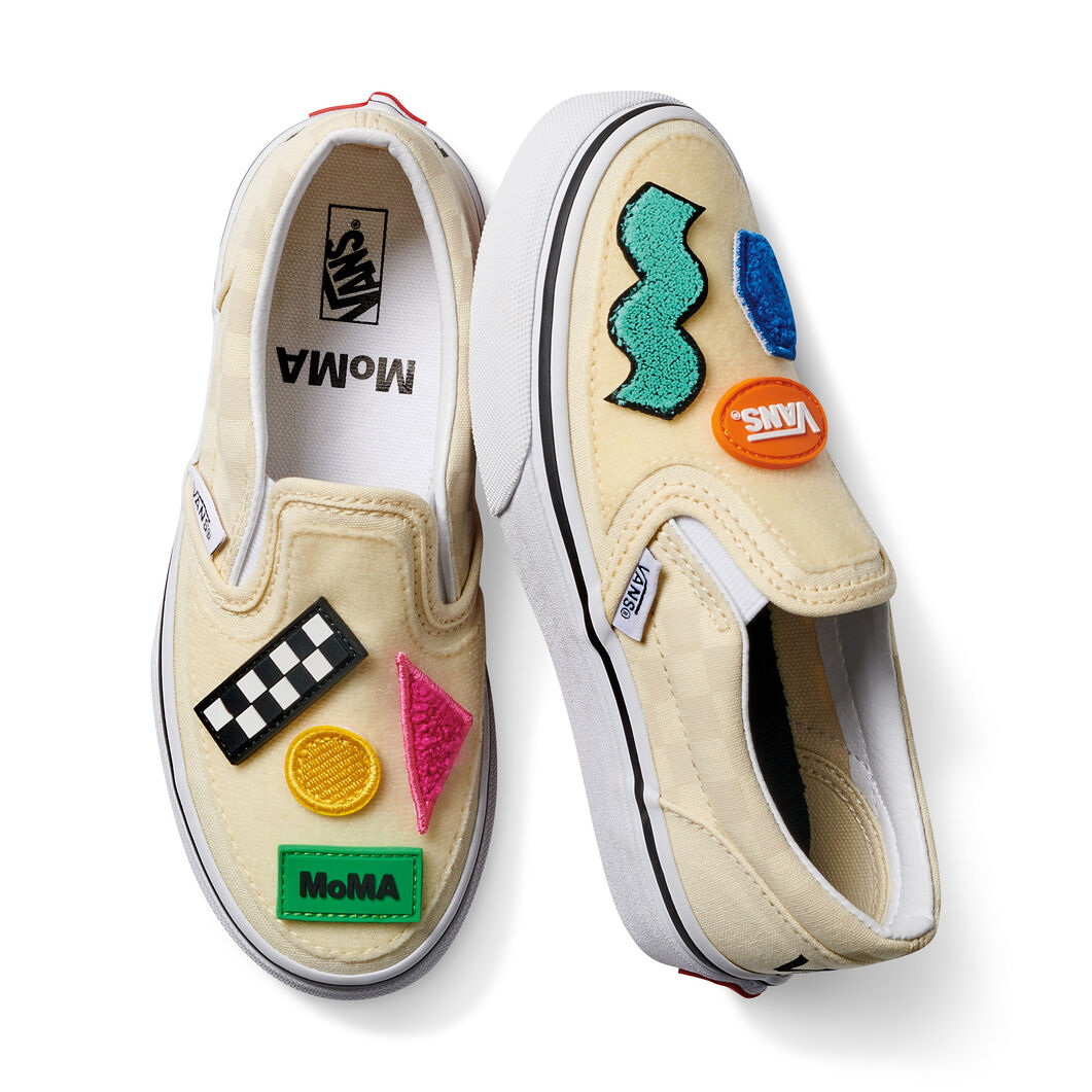 Kids' MoMA and Vans Classic Slip-On Sneakers in color