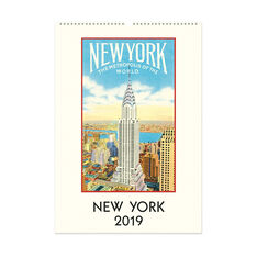 2019 New York Vintage Wall Calendar in color