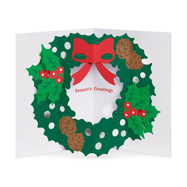 Holly Wreath Holiday Cards in color