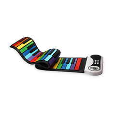 Roll-Up Rainbow Piano in color