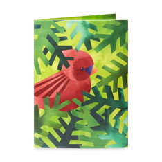 Nestling Cardinals Holiday Cards (Box of 8) in color