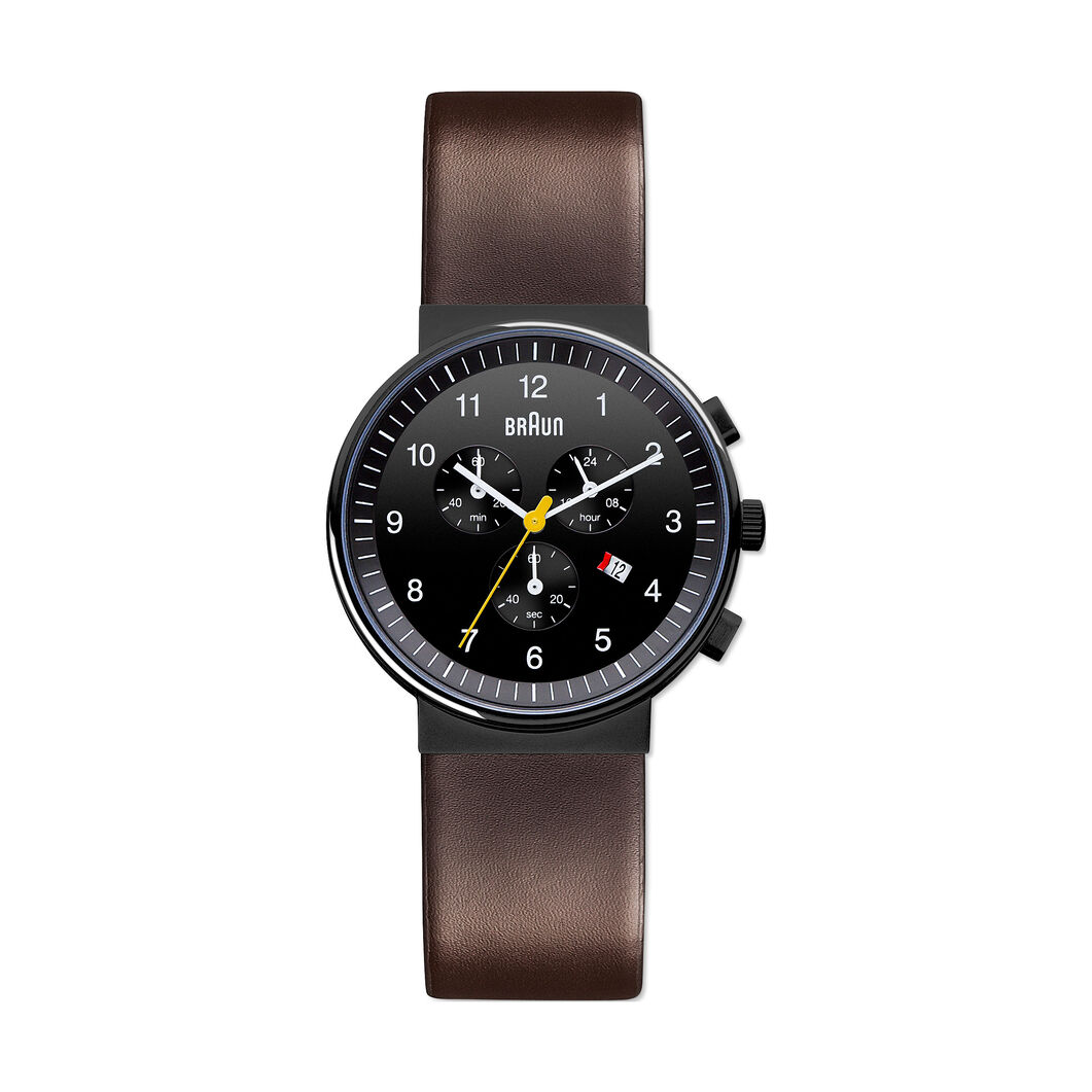 Braun Quartz Chronograph in color Black