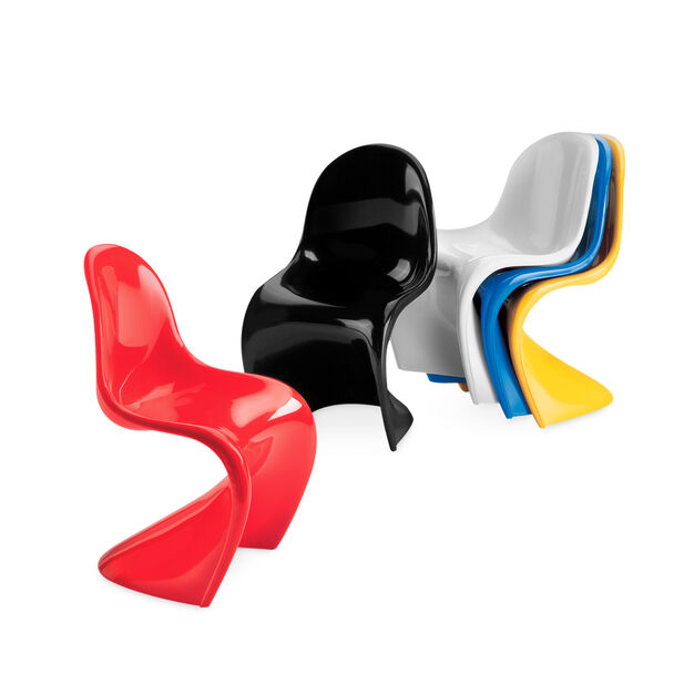 Miniature Panton Chairs Set of 5 in color