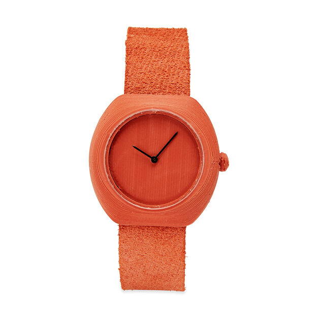 3D-Printed Step Watch in Terracotta in color