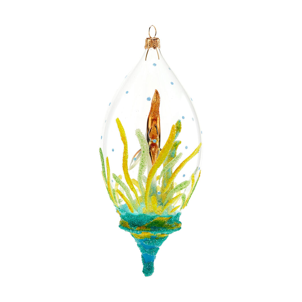 Shimmering Fish Globe Holiday Ornament in color