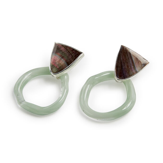 Octave Small Aura Hoop Earrings in color