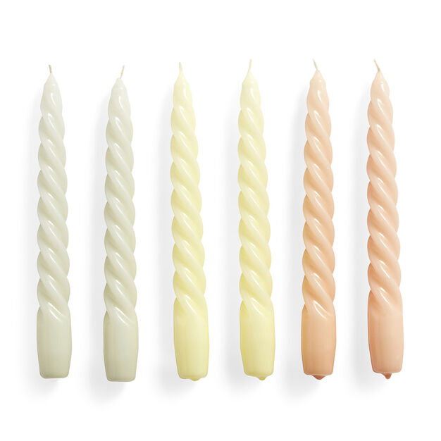 HAY Paraffin Wax Candles - Set of 6 in color Grey Beige/ Citrus/ Pink