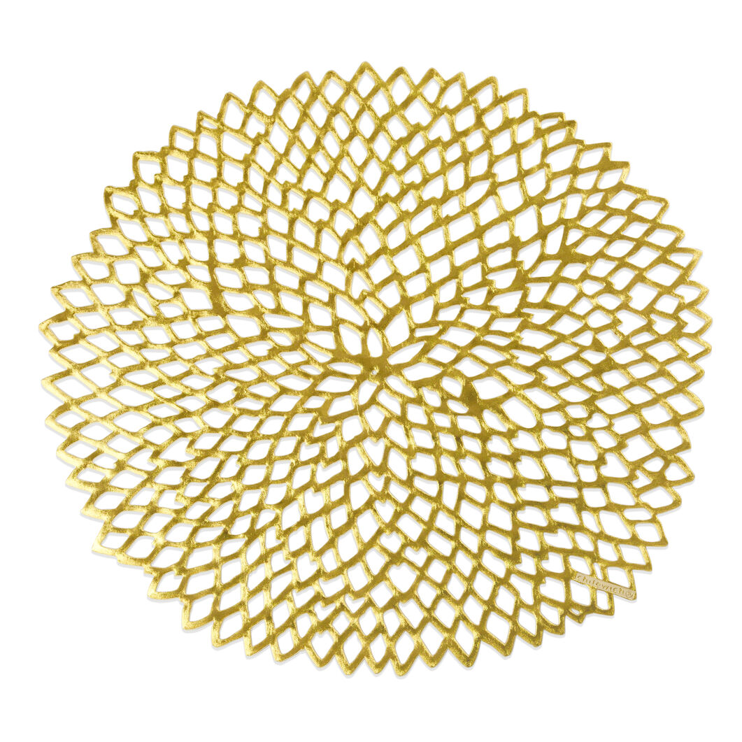 Dahlia Placemats in color Gold
