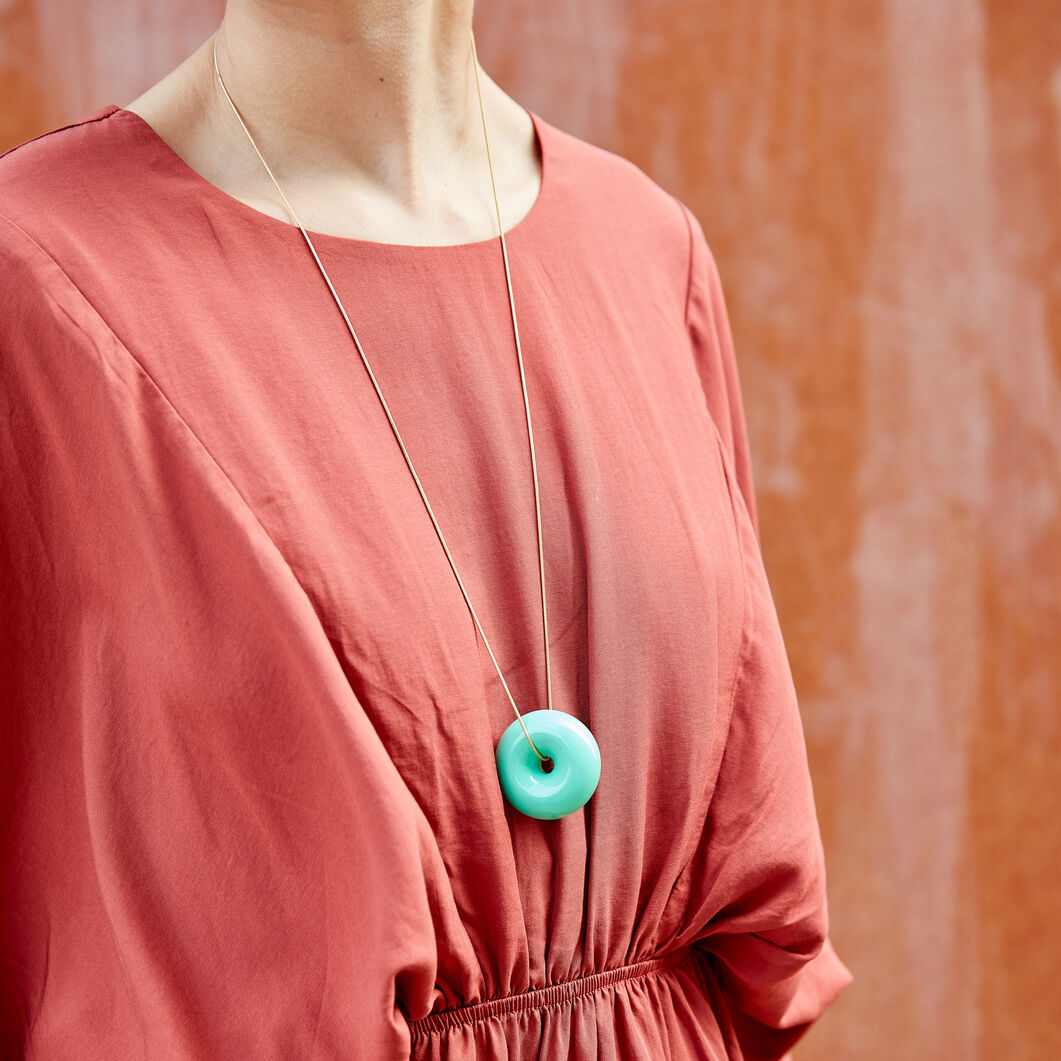 Uncommon Matters Urushi Wood Stratus Necklace in color