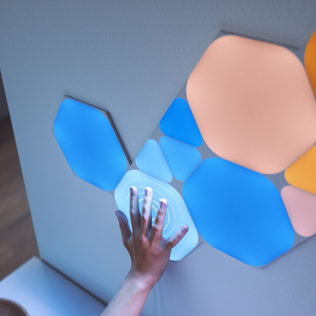 Nanoleaf Shapes Hexagon-Mini Triangle Smarter Interactive Lighting Kit in color