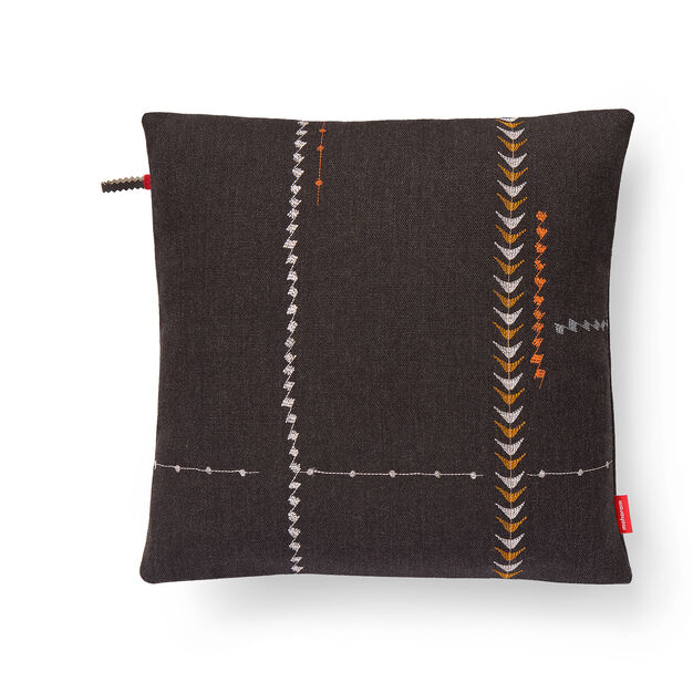 Borders Pillow - Walnut in color