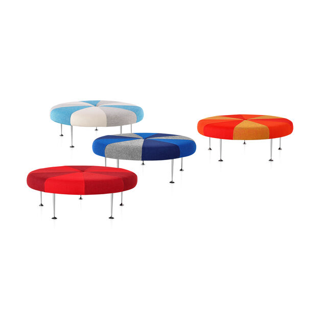 Girard Color Wheel Braniff Ottoman from Herman Miller© in color Light Blue