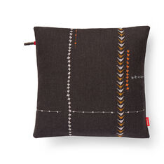 Maharam Borders Pillow - Walnut in color