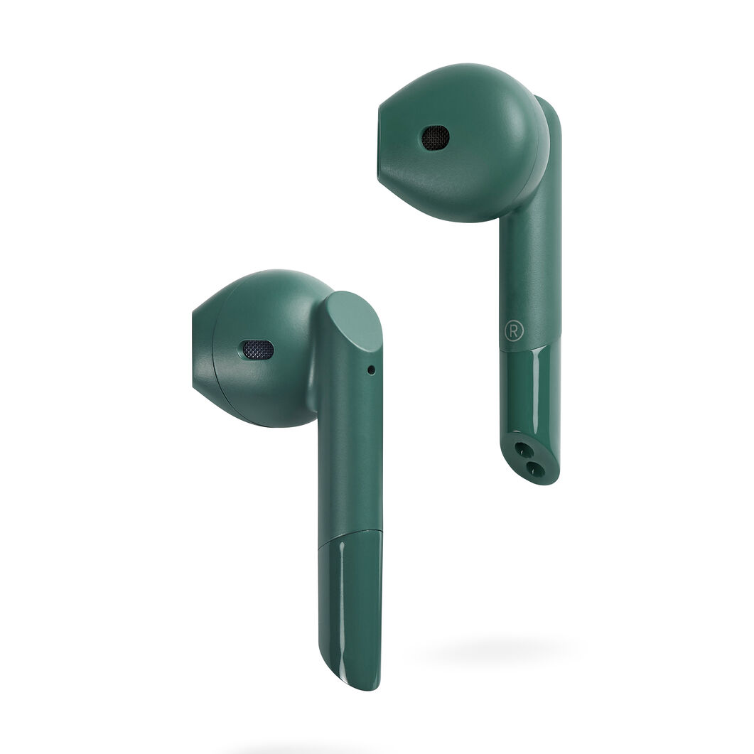 Mykronoz ZeBuds Pro Earbuds with Wireless Charging Case in color Green
