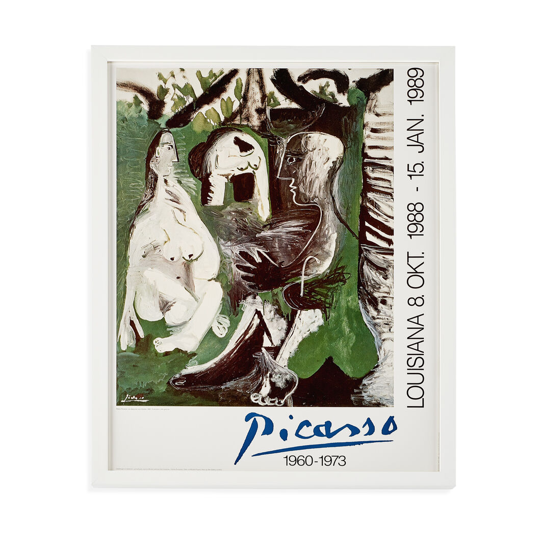 Pablo Picasso: Le dèjeuner Framed Poster in color