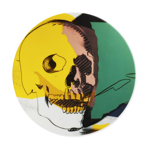 Andy Warhol Skull Plate in color